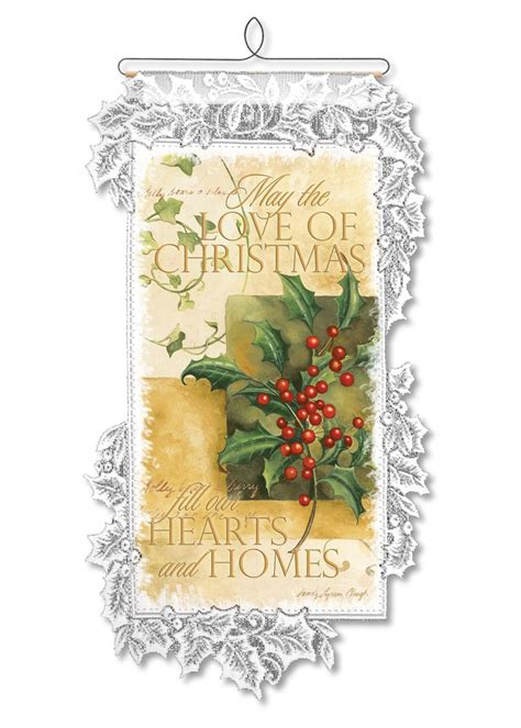 christmas love wall hanging heritage lace