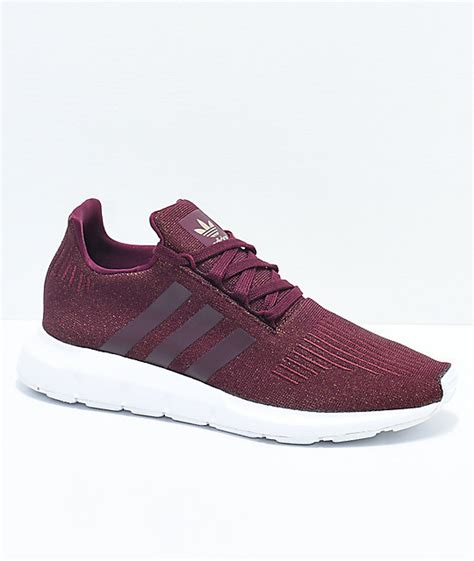 maroon color shoes adidas run maroon white shoes zumiez