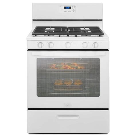 whirlpool 5 1 cu ft gas range in white shop your way