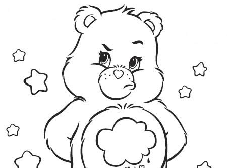 coloring pages of grumpy bear grumpy bear coloring pages images