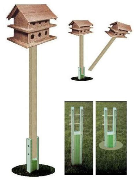 ark workshop ground socket for wooden 4x4x8 birdhouse