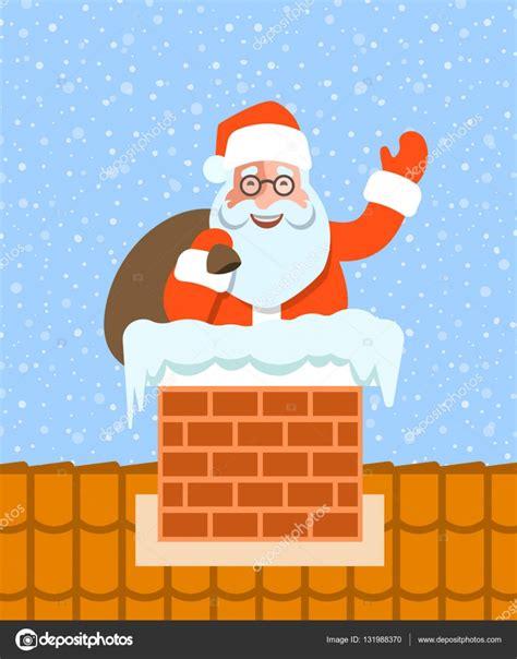 chimenea santa claus santa claus con los regalos se encuentra en la chimenea en