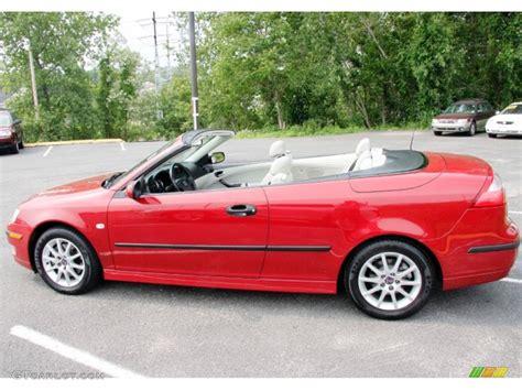 saab convertible red chili red metallic 2005 saab 9 3 arc convertible exterior