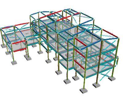 structural layout of a building structural design process