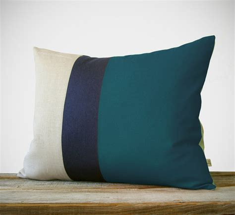 color similar to teal items similar to 16x20 color block pillow in teal navy