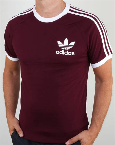 T Shirt Original adidas originals clfn t shirt maroon3 stripes originals