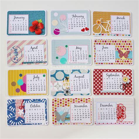 Handmade Calenders - personalised 2016 handmade desk calendar floral calendar