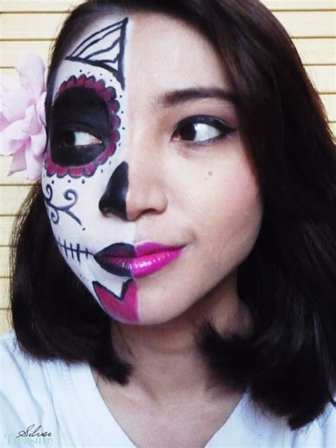 tutorial makeup halloween yang mudah fotd sugar skull vs beauty makeup tutorial silver