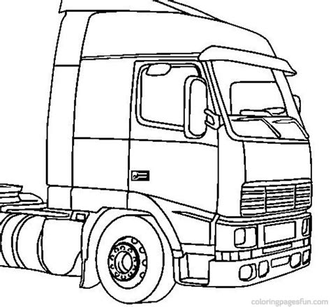 Coloring Page Big Truck | big truck coloring pages az coloring pages