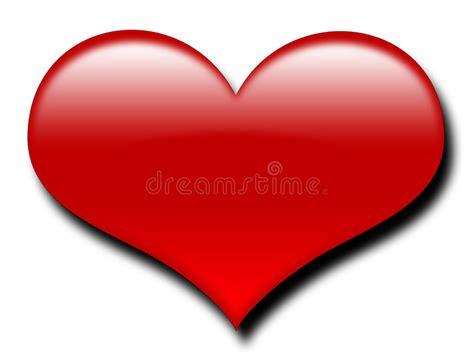 imagenes de corazones grandes y rojos coraz 243 n rojo grande stock de ilustraci 243 n ilustraci 243 n de