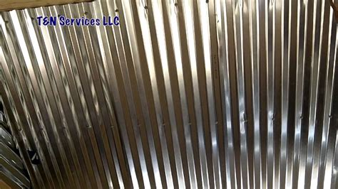 Corrugated Metal Ceiling Install   YouTube