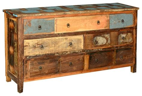 distressed bedroom dressers distressed reclaimed wood 7 drawer dresser chest rustic