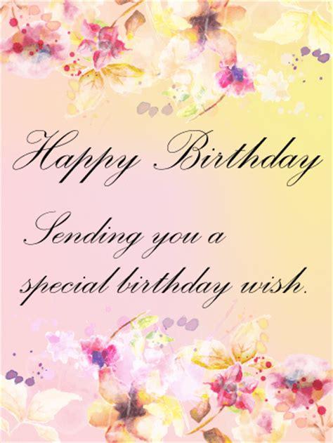 graceful flower birthday card birthday greeting cards
