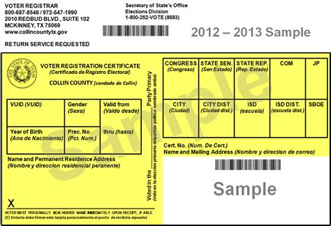 Voter Registration Card Template by Transgriot 24 Hours Until We Early Vote