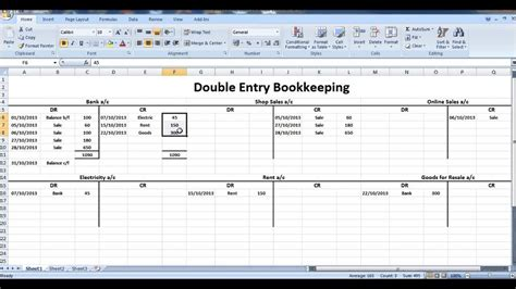 Entry Accounting Spreadsheet by Entry Accounting Spreadsheet Laobingkaisuo