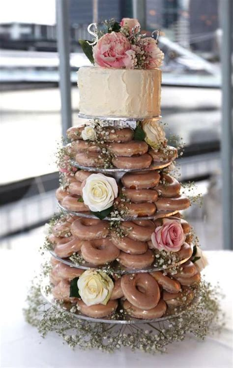 Donut Wedding Cake minis awesome and krispy kreme cake on