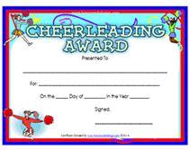 printable cheerleading awards certificates