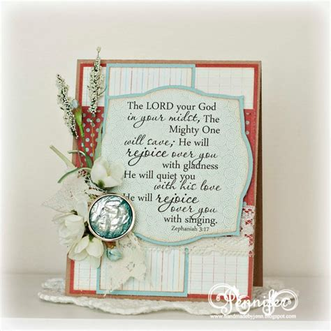Thinking Of You Verses For Handmade Cards - handmade scripture card zephaniah 3 17 inspirational