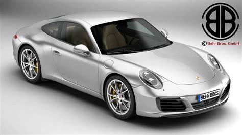 Porsche Carrera Models by Porsche 911 Carrera 2017 3d Model Buy Porsche 911