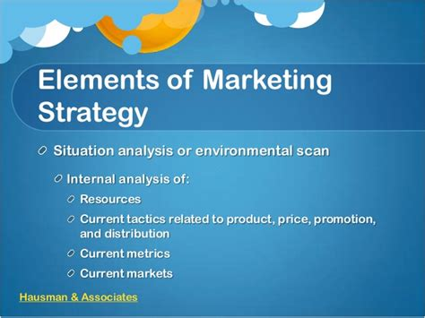 Definition Of Marketing Strategy Elements Of A Marketing Plan Template