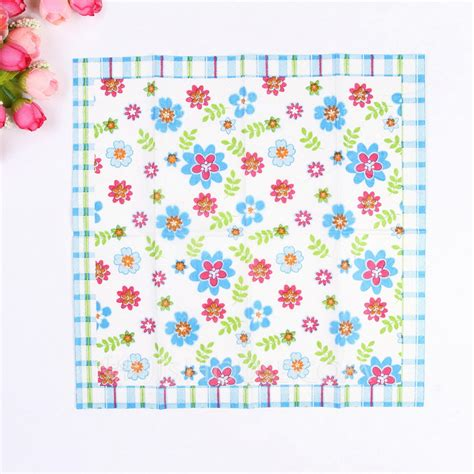 flower pattern napkins flower pattern dinner napkins set of 50 122039529