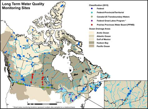 lakes of canada map environment and climate change canada water about