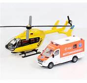 Siku 1850 Ambulance Bus Helicopter Aircraft Plane Rescue