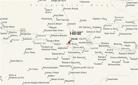 herat map herat location guide