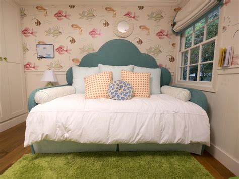 headboard for daybed a tween girl s underwater themed bedroom kids room ideas