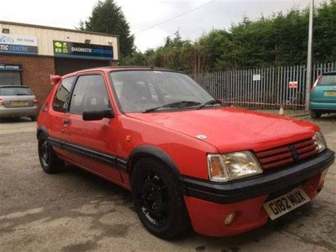 peugeot cars for sale uk for sale 1989 peugeot 205 1 9 gti road legal track car