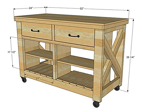 bench wood guide kitchen cutting table plans