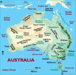 map of landforms australia landforms and land statistics