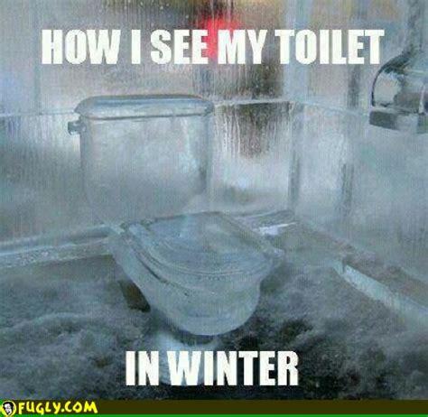 It S So Cold Meme - frozen toilet seat