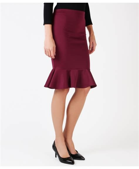 skirts fishtail ruffle pencil skirt krisp