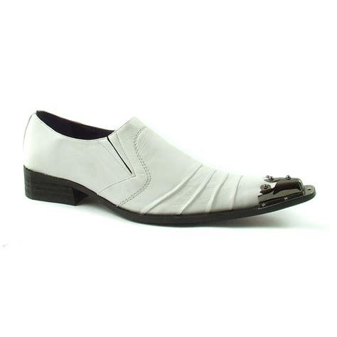 buy white steel toe cap mens designer shoes at gucinari