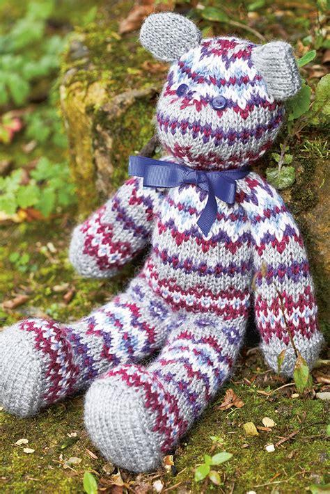 fair isle knitting patterns uk fair isle teddy knitting pattern the knitting