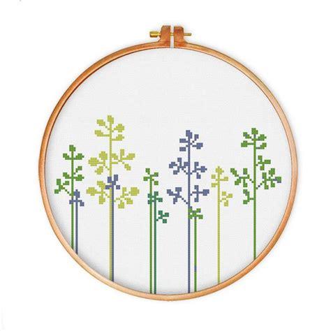 nature cross stitch pattern lovely grass cross stitch pattern instant download modern