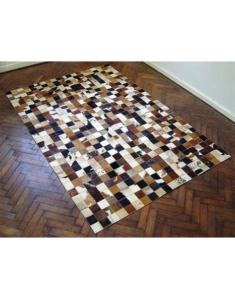Patchwork Cowhide Rugs - small squares patchwork cowhide rug 515 large patchwork
