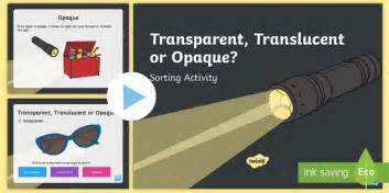 introduction to powerpoint translucent transparent or opaque sorting powerpoint light
