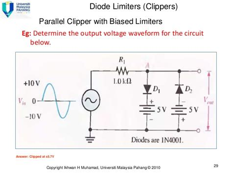 supply cling diodes diode limiters 28 images diode limiting and cling circuits electronics and communications