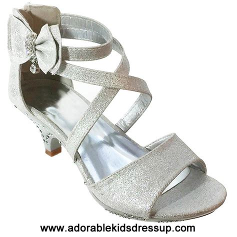 adorable kids dress up kids high heels shoes girls tea silver high heels for kids girls high heel shoes for