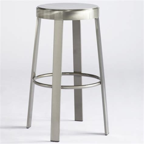 all metal bar stools svinn 30 quot steel round barstool modern bar stools and