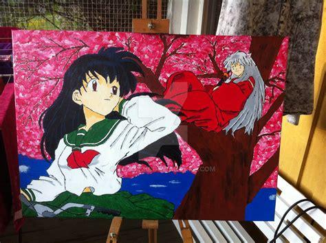 acrylic painting anime acrylic painting inspired by inuyasha by zozoxzo on deviantart