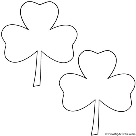three leaf clover template www pixshark com images