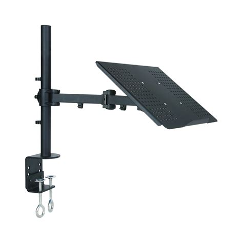 Laptop Desk Arm Tygerclaw Lcd6001 Single Arm Laptop Desk Mount Lowe S Canada