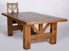 Timber Kitchen Table Timber Frame Dining Table Salvaged Barn Wood Rustic