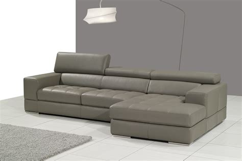 grey leather chaise sofa gray sectional sofa