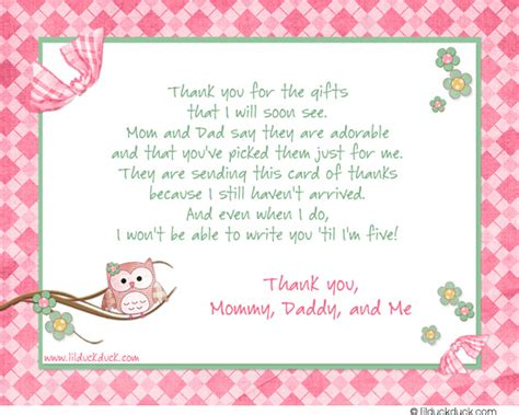 Modern Thank You Card Template by Modern Ideas What To Write In Thank You Cards For Baby