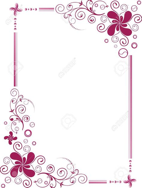 Wedding Borders Vector by 3492047 Floral Design Border Frame Stock Vector Wedding