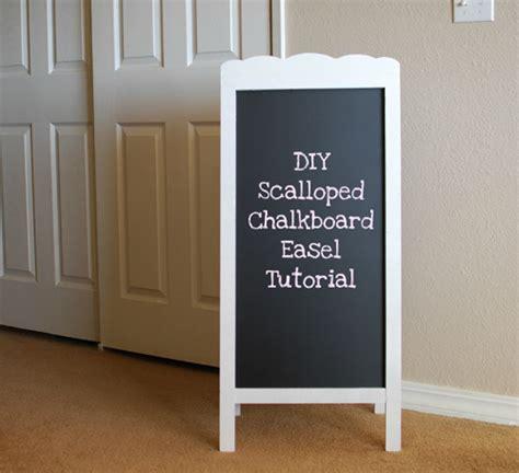 diy chalkboard easels diy scalloped chalkboard easel tutorial